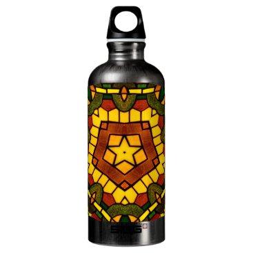 McTiffany Tiffany Aqua Glass Star Aluminum Water Bottle