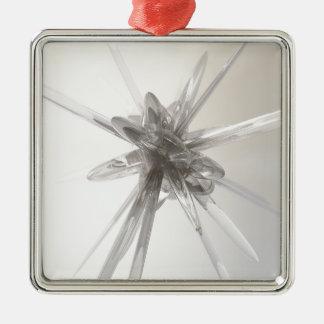 Glass Star Metal Ornament