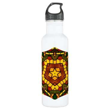 McTiffany Tiffany Aqua Glass Star Water Bottle