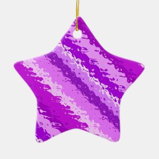 Glass stripes - shades of amethyst purple ceramic ornament