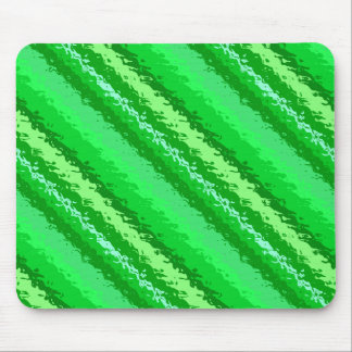 Glass stripes - shades of emerald green mouse pad