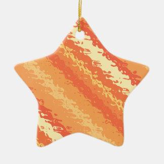 Glass stripes - shades of orange and gold ceramic ornament