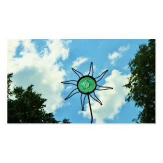 Glass Sun Sculpture in the Sky Business Card