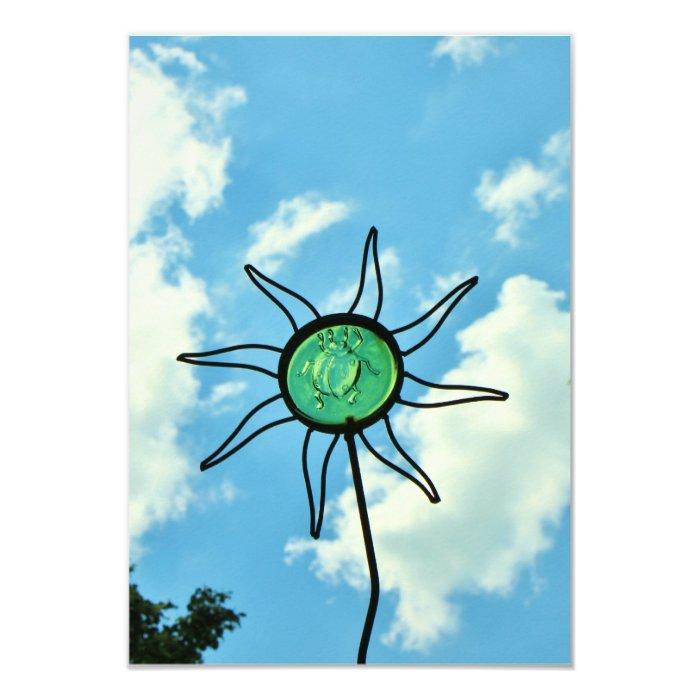 Glass Sun Sculpture in the Sky Card