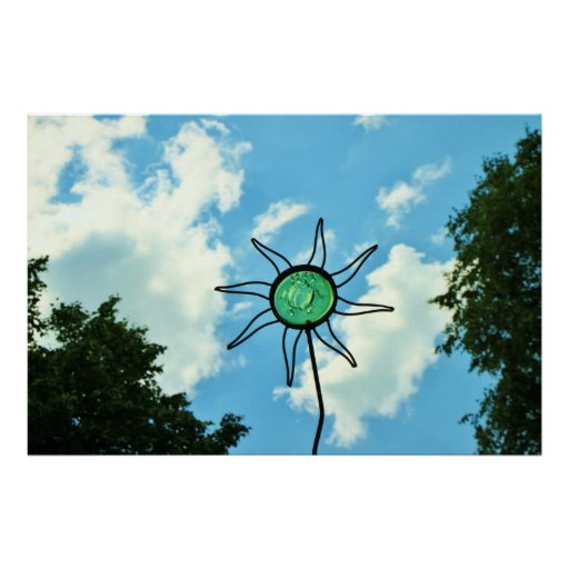 Glass Sun Sculpture in the Sky Posters
