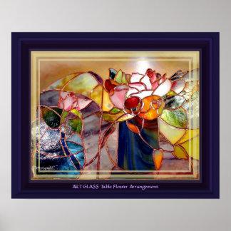 GLASS Table Flower Arrangement Beautiful Poster