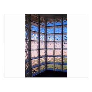Glass texture postcard