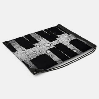 Glass Themed, A Black And White Picture Of A Table Drawstring Bag