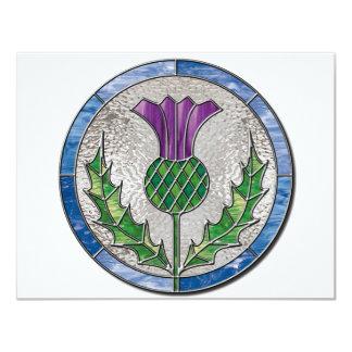 Glass Thistle 4.25x5.5 Paper Invitation Card