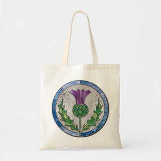 Glass Thistle Canvas Bag