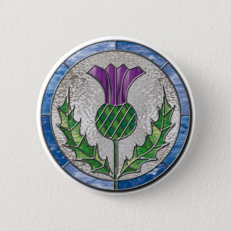 Glass Thistle Button