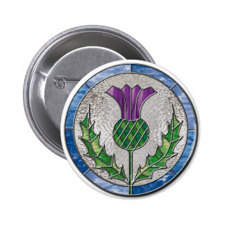 Glass Thistle Pinback Buttons