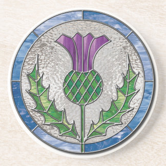 Glass Thistle coaster