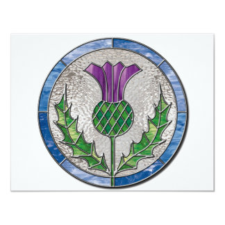 Glass Thistle 4.25x5.5 Paper Invitation Card