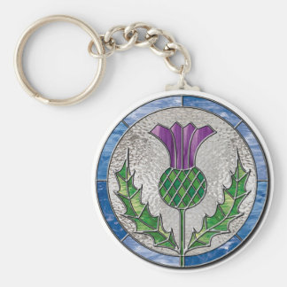 Glass Thistle Keychain