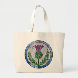 Glass Thistle Large Tote Bag