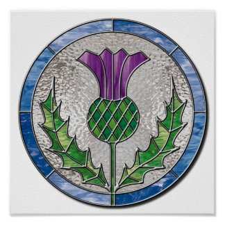 Glass Thistle Poster