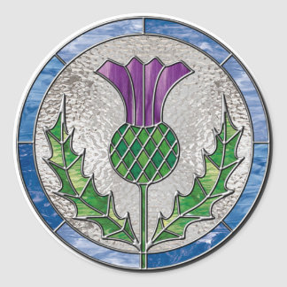 Glass Thistle Classic Round Sticker