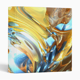Glass Tidal Wave Abstract Binder