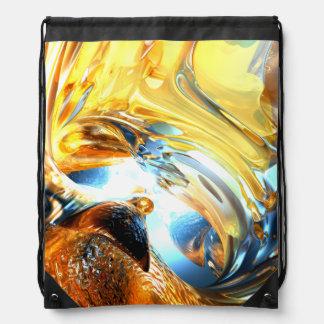 Glass Tidal Wave Abstract Drawstring Bag