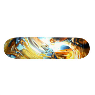 Glass Tidal Wave Abstract Skateboard