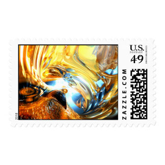 Glass Tidal Wave Abstract Stamp