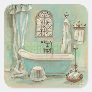 Glass Tile Bath Square Stickers