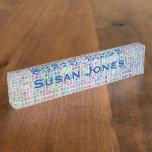 Glass Tile Mosaic cool modern colorful name Name Plate