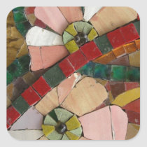 glass tiles flowers vo1 square sticker