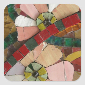 glass tiles flowers vo1 square sticker