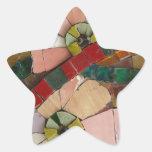 glass tiles flowers vo1 star sticker