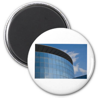 glass tower - corporate building 2 inch round magnet