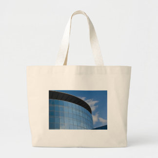 glass tower - corporate building large tote bag