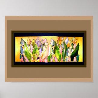 Glass Tulip Square Classic Bright Color Poster