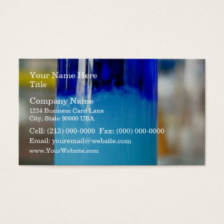 Glass vessels with solutions in different density business card