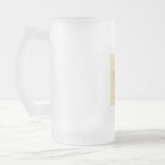 GLASS WARE FROSTED GLASS BEER MUG