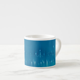 GLASS WASH VENICE Blue Cool Dreamy Abstract Espresso Cup