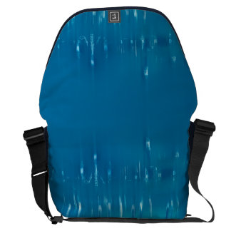 GLASS WASH VENICE Blue Cool Dreamy Abstract Messenger Bag
