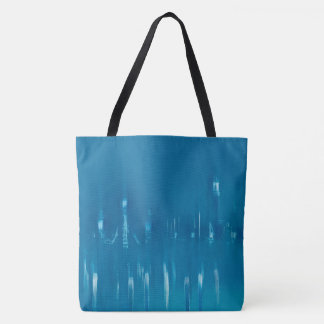 GLASS WASH VENICE Blue Cool Dreamy Abstract Tote Bag