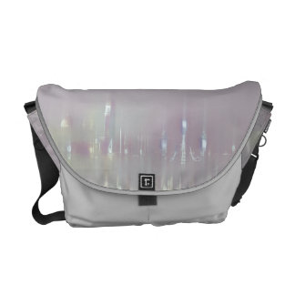 GLASS WASH VENICE Pastels Soft Romantic Abstract Messenger Bag