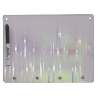 GLASS WASH VENICE Pastels Soft Romantic Dry Erase Board With Keychain Holder