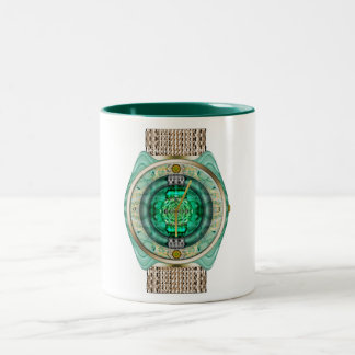 Glass Watch Two-Tone Coffee Mug