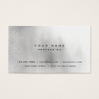 Glass White Gray Black Grass Ombre Stylist Vip Business Card