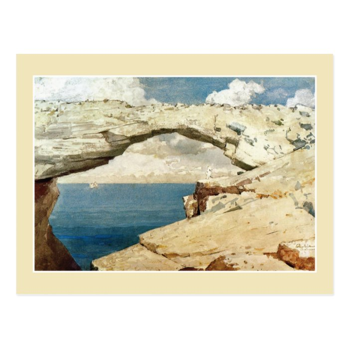 Glass Window, Bahamas by Winslow Homer Postcard