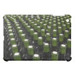 Glass wine bottles in a wine bottling factory. iPad mini cover
