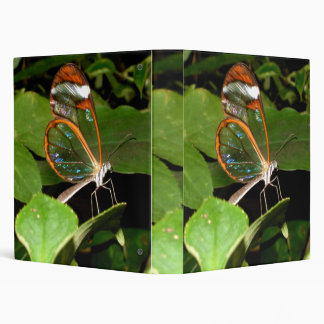 Glass Wing Butterfly 3 Ring Binder