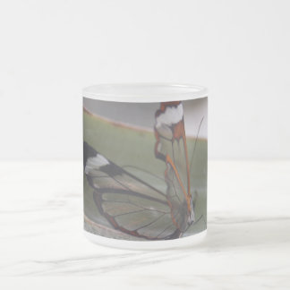 Glass Wing Butterfly Frosted Glass Coffee Mug