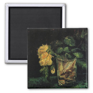 Glass with Roses by Vincent van Gogh Fridge Magnets