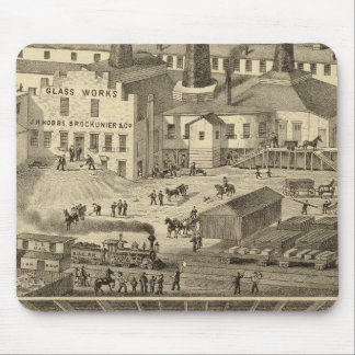 Glass works of JH Hobbs and Brockunier Mousepads