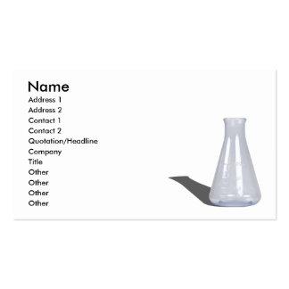 GlassBeaker103110, Name, Address 1, Address 2, ... Double-Sided Standard Business Cards (Pack Of 100)